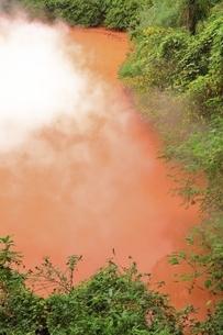 別府地獄めぐり 血の池地獄の写真素材 [FYI04818592]