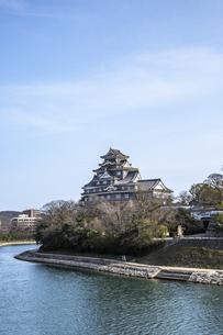 岡山城(旭川・縦構図・小)の写真素材 [FYI04819945]