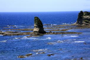 8月 房総半島のおせんころがし海岸風景の写真素材 [FYI04820043]