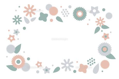 落ち着いた色合いのフラワーリースのイラスト素材 [FYI04820845]