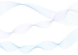 背景素材 青色系の滑らかなウェーブ イメージデザインのイラスト素材 [FYI04820908]