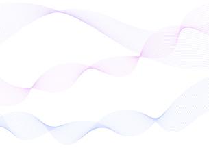 背景素材 青色系の滑らかなウェーブ イメージデザインのイラスト素材 [FYI04820910]