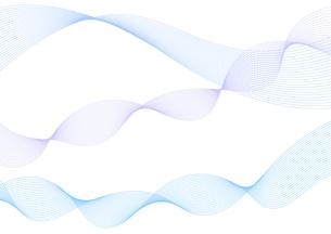 背景素材 青色系の滑らかなウェーブ イメージデザインのイラスト素材 [FYI04820913]