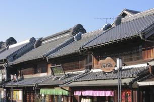 小江戸川越 蔵造りの町並みの写真素材 [FYI04821329]