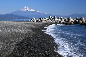 三保の松原からの富士山の写真素材 [FYI04821376]