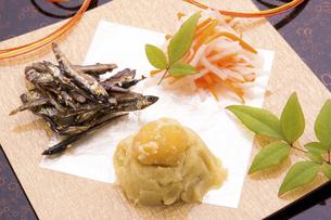 おせち料理 祝い肴と酢の物の写真素材 [FYI04821464]
