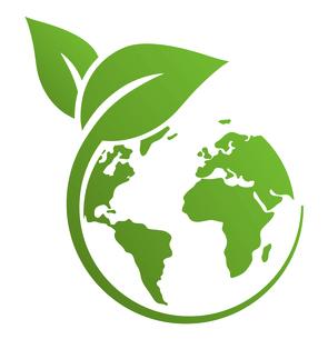 葉と地球のエコロジーのアイコン マークのイラスト素材 [FYI04821607]