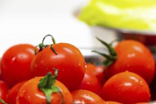 真っ赤に熟したミニトマトの写真素材 [FYI04821677]