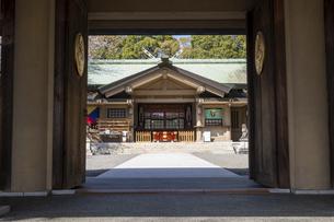 東郷神社 入口の写真素材 [FYI04822200]