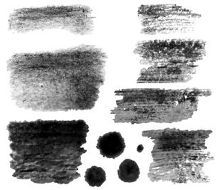 墨で手描きした手描きの線 【バリエーション】のイラスト素材 [FYI04823988]