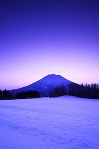 朝の羊蹄山の写真素材 [FYI04824514]