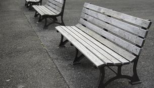 公園のベンチの写真素材 [FYI04824564]