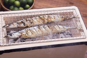 秋刀魚の塩焼きの写真素材 [FYI04825330]