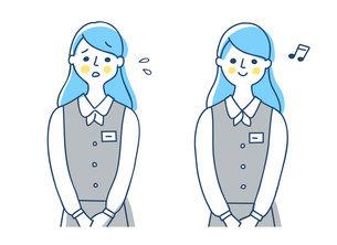 制服を着たビジネスウーマン 2表情のイラスト素材 [FYI04826698]