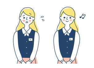 制服を着たビジネスウーマン 2表情のイラスト素材 [FYI04826699]
