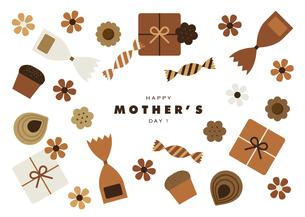 母の日カードデザインのイラスト素材 [FYI04826795]