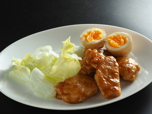 鶏胸肉甘辛煮の写真素材 [FYI04827206]