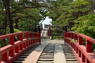 松島 五大堂のすかし橋の写真素材 [FYI04827434]