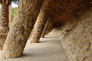 バルセロナ グエル公園風景の写真素材 [FYI04827470]