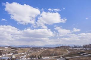 シーズン前の四季彩の丘の写真素材 [FYI04827515]