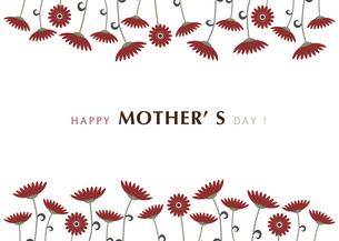 ガーベラの花の母の日カードのイラスト素材 [FYI04827838]