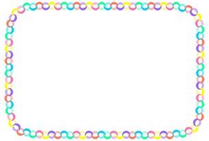 輪飾りの装飾枠のイラスト 【カラフル】のイラスト素材 [FYI04827883]