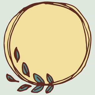 手書き風の植物のフレームイラストのイラスト素材 [FYI04827930]