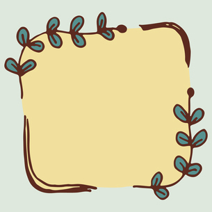 手書き風の植物のフレームイラストのイラスト素材 [FYI04827931]