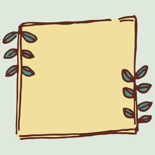 手書き風の植物のフレームイラストのイラスト素材 [FYI04827934]
