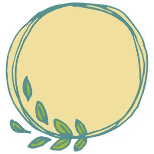 手書き風の植物のフレームイラストのイラスト素材 [FYI04827936]