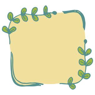 手書き風の植物のフレームイラストのイラスト素材 [FYI04827938]
