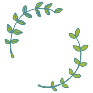 手書き風の植物のフレームイラストのイラスト素材 [FYI04827939]