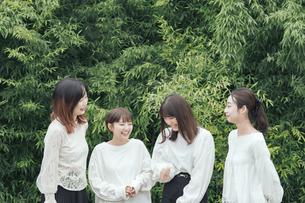 談笑する女性4人の写真素材 [FYI04827942]