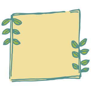 手書き風の植物のフレームイラストのイラスト素材 [FYI04827943]