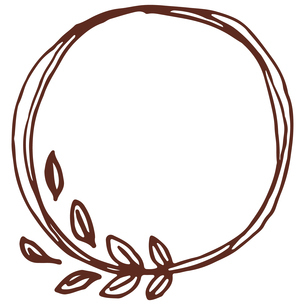 手書き風の植物のフレームイラストのイラスト素材 [FYI04827945]