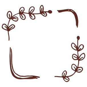 手書き風の植物のフレームイラストのイラスト素材 [FYI04827946]