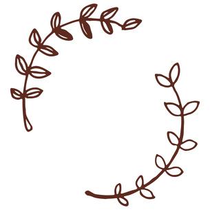 手書き風の植物のフレームイラストのイラスト素材 [FYI04827948]