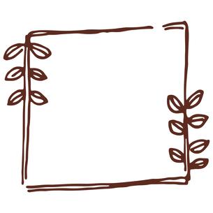 手書き風の植物のフレームイラストのイラスト素材 [FYI04827949]
