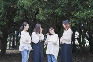 談笑する女性4人の写真素材 [FYI04827954]
