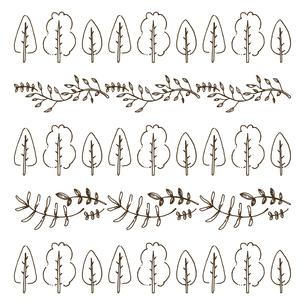 手書き風のシンプルな植物のベクターイラストのイラスト素材 [FYI04827956]