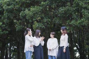 談笑する女性4人の写真素材 [FYI04827961]