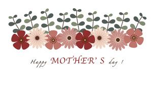 フラワー母の日カードのイラスト素材 [FYI04829025]