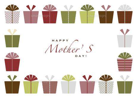 プレゼントたくさんの母の日カードのイラスト素材 [FYI04829026]
