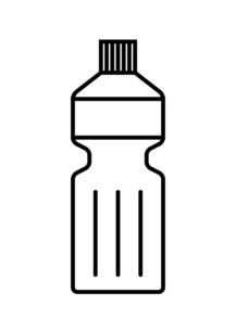 線画のペットボトルのイラスト素材 [FYI04829205]