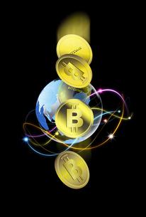 ビットコインのイラスト素材 [FYI04829581]