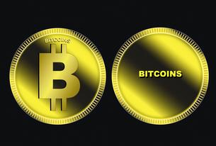 ビットコインのイラスト素材 [FYI04829586]