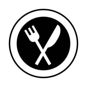 お皿と食器のモノクロイラストのイラスト素材 [FYI04829975]