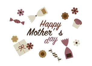 母の日お菓子カードデザインのイラスト素材 [FYI04830386]