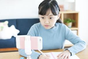 勉強する女の子の写真素材 [FYI04830783]