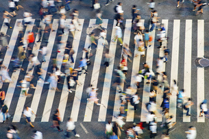 東京・渋谷・スクランブル交差点の写真素材 [FYI04831040]